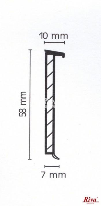 LIŠTA VINYLLINE - W075 CAPPUCHINO