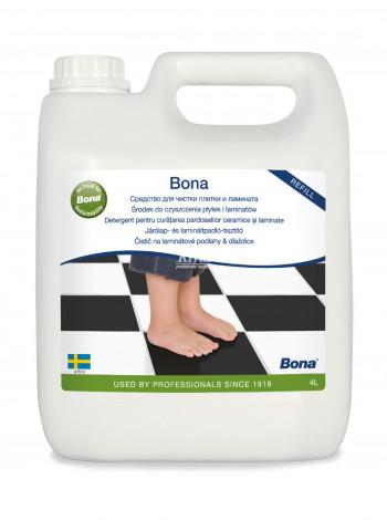BONA čistič na laminátové podlahy a dlaždice náplň, 4L